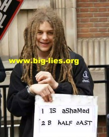 Ashamed to be white relabelled I is ashamed to be half cast mixed race